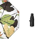 日傘 ビニールブラック、オレンジ、太陽の紫外線のコンパクトなポータブルサンシェード傘の半分超小型折りたたみ女性の女神 LCLJP (Color : 01, Size : 1)