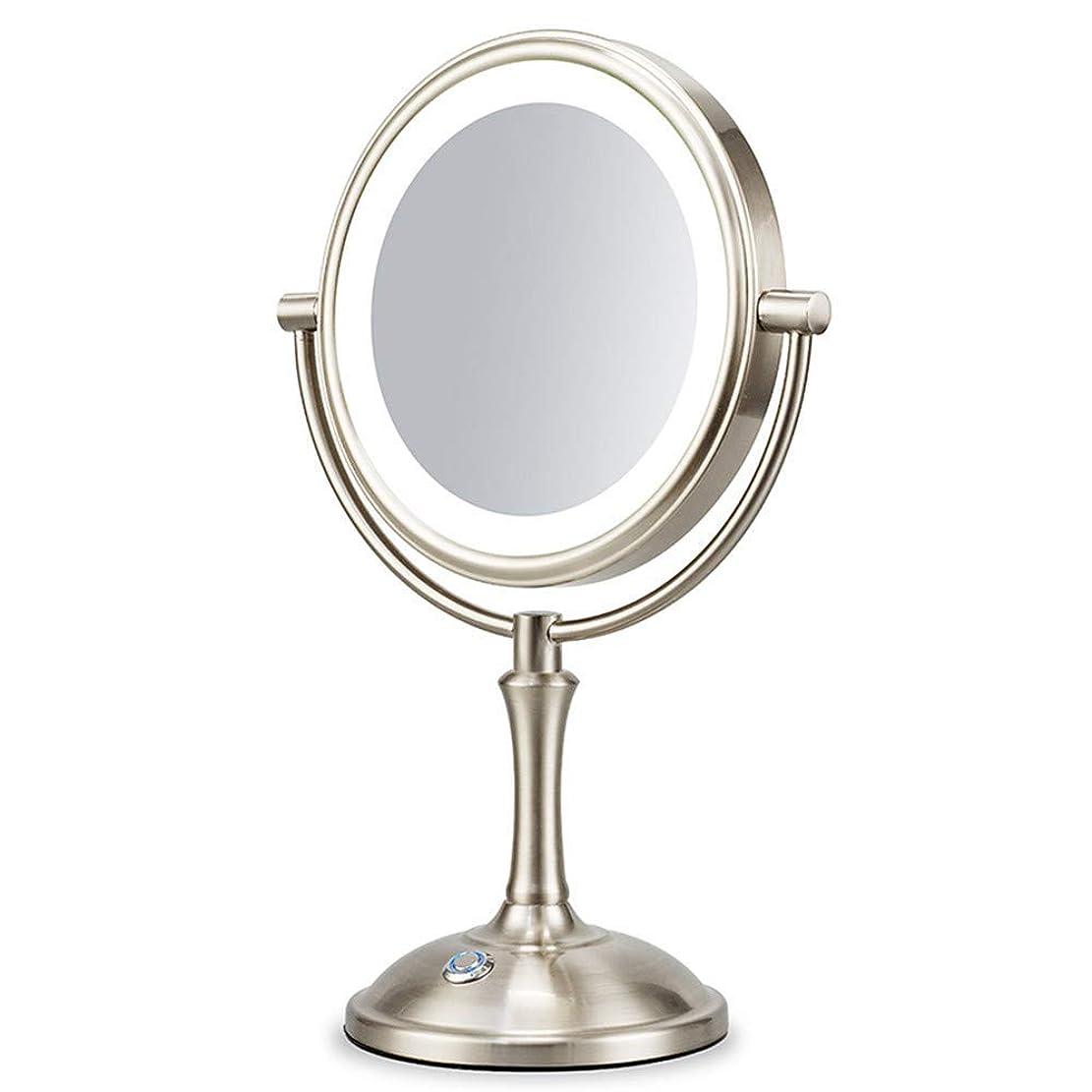 合計糸コイルLED化粧鏡、デスクトップミラー、ヨーロッパの虚栄心ミラー、照光式ハイライトミラー、タッチ調光