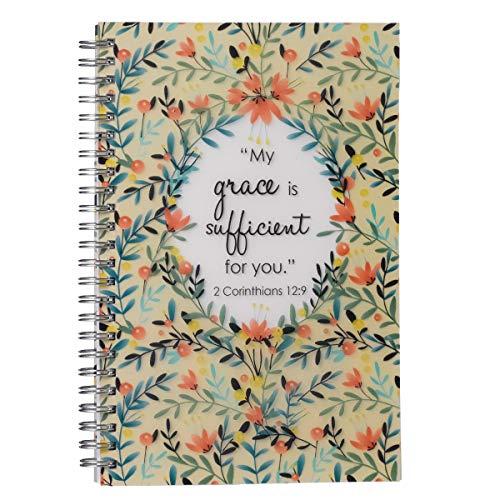 My Grace is Sufficient Wirebound Notebook - 2 Corinthians 12:9