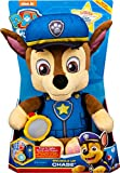 Paw Patrol, Snuggle Up Chase Plush with Flashlight and Sounds, for Kids Aged 3 and Up