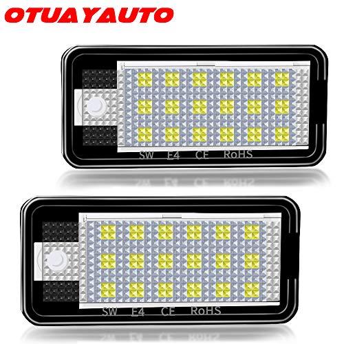 LED Kennzeichenbeleuchtung - OTUAYAUTO Kennzeichen Led Nummernschildbeleuchtung für A3 8P, A4 B6 B7, A6 4F