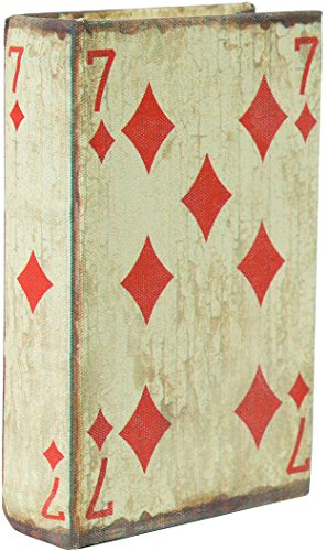 Biscottini Porte-Cartes de Jeu – Boîte en Bois – Fabriquée à la Main et recouverte de Tissu avec Effet Vieilli – 1 Compartiment – Dimensions extérieures 10 x 3 x 14 cm – Jeu de 54 Cartes Inclus