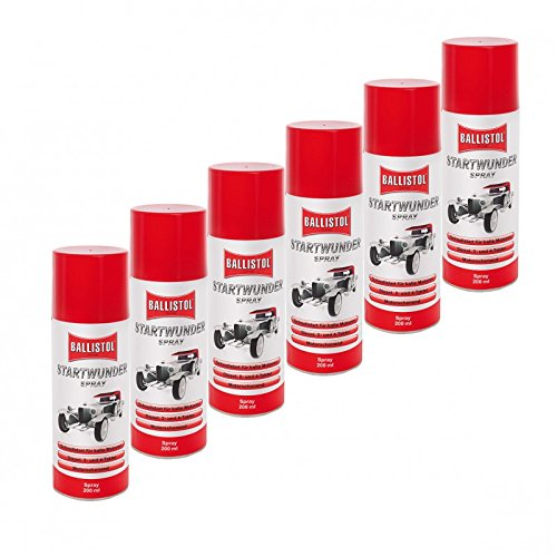 BALLISTOL Startwunder 6 Ds. Spray 200 ml 25500 Startpilot Startspray Starthilfe