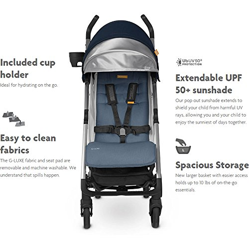 2018 UPPAbaby G-Luxe Stroller - Jordan (Charcoal/Silver)