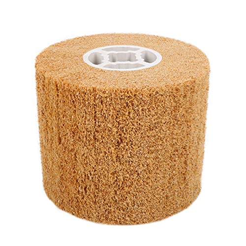Rueda de pulido de pulido, rueda abrasiva no tejida de dibujo de alambre de aleta abrasiva, rueda de dibujo de alambre para máquina pulidora lijadora grano 120 #