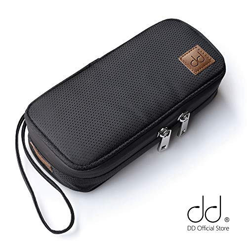 DD ddHiFi Portable Storage Bag C-2019 Black Protective Carrying Case Organizer for Sony AK Astell&Kern FiiO Music Player Audio Player DAP MP3 DAC AMP Amplifier Earphones IEM Cable Micro SD Card