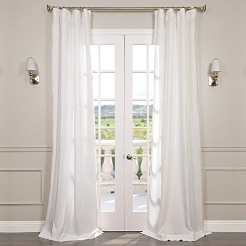 HPD Half Price Drapes SHLNCH-GB1001032-96 Signature French Linen Sheer Curtain (1 Panel), 50 X 96, Antique Lace