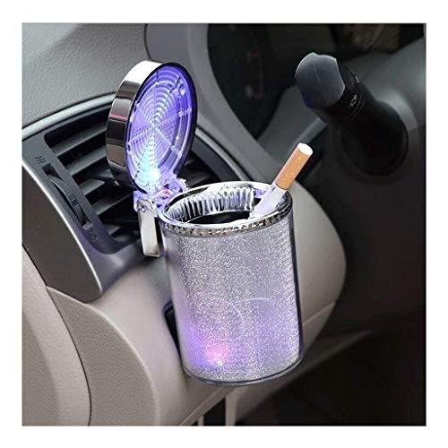 Cigarro de cigarro cigarrillo / llama retardante de plástico para fumar bandeja de ceniza hyun-chae con cubierta LED luz, para la mayoría del titular de los automóviles, domicilio interior (color: col