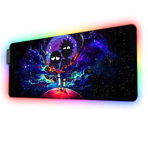 Large Anime Mouse Pad RGB Night Sky Space Stars,Mousepad with 12...