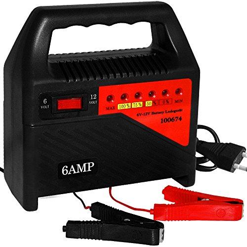 Deuba Batterieladegerät Auto Überhitzungsschutz Schutzschaltung 6V 12V Autobatterie Ladegerät 6A KFZ Batterie Akku