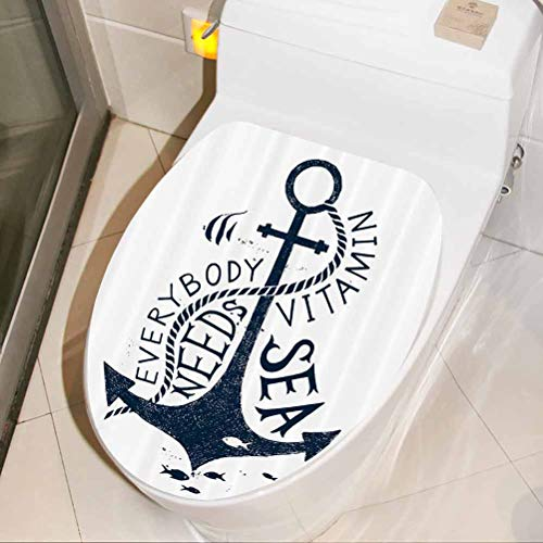 Vinyl Wall Art Decal Everybody Needs Vitamin Bathroom Toilet seat Sticker Decal Bathroom/Toilet/PVC/Kitchen 3D Wall Decals, W30xH36 cm