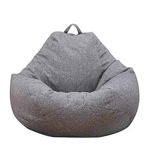 Jetcloud Bean Bag Chair Cover,Adults Large High Back Bean Bag Sofa Cover Recliner Gaming Storage Bag for Indoor Outdoor BeanBag Chair,No Filling (Dark grey, M:80x90cm)
