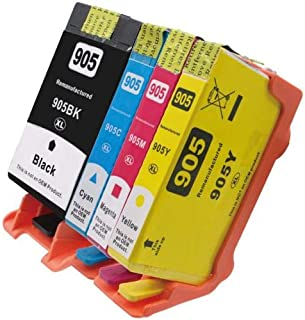 4 Pack Compatible HP 905XL Ink Cartridge Set (1BK,1C,1M,1Y) T6M05AA T6M09AA T6M13AA T6M17AA