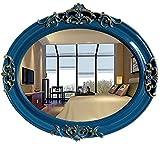 WJSWD Relación Calidad-Precio Estilo mediterráneo Europeo Oval Small Mirror Beauty Mirror Mirror Colgando Espejo Decorativo...