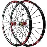 LJP MTB Bicicletas Ruedas 26/27,5/29 Pulgadas híbrido Bicicletas montaña rin Disco Delantero y Rueda Trasera Freno Eje pasante 8/9/10/11/12 24H Velocidad (Color : E, Size : 26in)