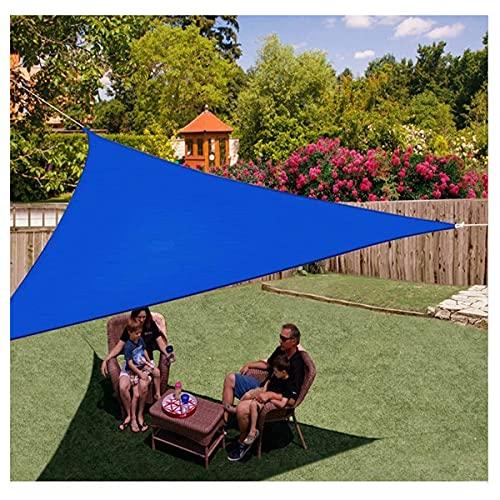 Dream ZX Vela de Sombra Triangular al Aire Libre Paño Oxford encriptado Toldo Protector Solar para Fiesta de jardín Impermeable en el Patio (Color : Dark Blue, tamaño : 3 * 3 * 3m)