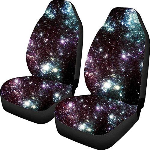 Galaxy Fashion Universe autostoelhoezen voorstoelbeschermers beschermhoes flexibele rug rekbaar voor de meeste stoelen