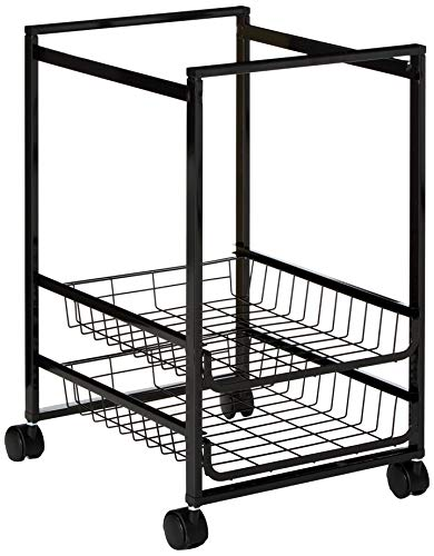 Mobile File Cart w/Sliding Sneakers, 15 W x 12-7/8 D x 20-7/8 h, zwart