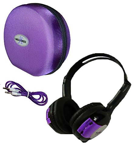 1 Kid Sized Wireless Infrared Car DVD IR Automotive Colored Adjustable 2 Channel Headphones with Case and 3.5mm Auxiliary Cord. Note: Will Not Work on 2017+ GM's or Pacifica
