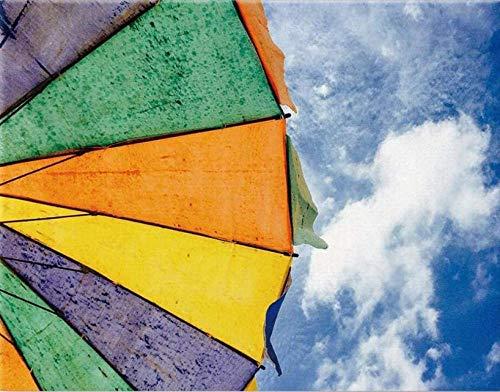 HAON Zonnescherm Paraplu en Blauwe Hemel Kunstwerken Digitaal olieverfschilderij Canvas Kits voor volwassenen Kinderen Kinderen Home Decorations Geschenken 40x50cm Frameloos