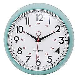 kieragrace Retro wall-clocks, 9.5, Green