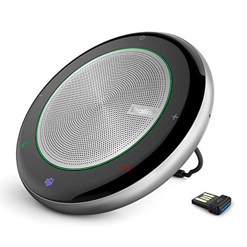 Yealink Teams Certified Speakerphone Wireless Bluetooth Speaker with Full Duplex Microphone for Conference Meeting CP700 CP900 Noise Reduction Home Office 360° Voice Pickup