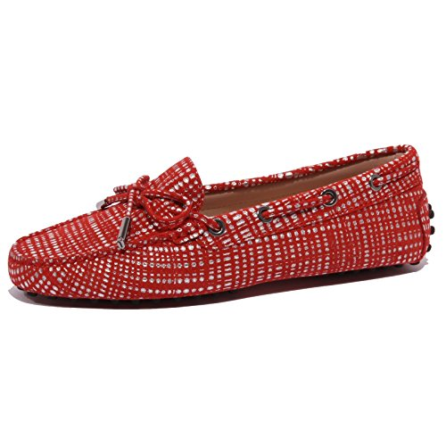 Tod's B1539 Mocassino Donna Heaven Coccinella Suede Red Shoe Woman [36]