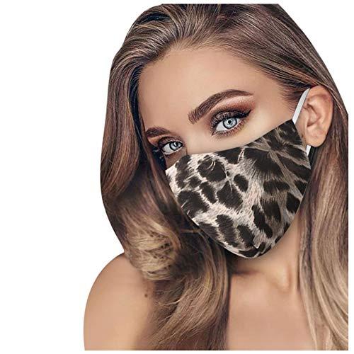 1/3/5 Stück Leoparden Zebra Muster Stickerei Baumwolle Mundbedeckung Mund und Nasenschutz Erwachsene Wiederverwendbare Waschbar Anti-Staub Mundschutz für Täglicher Gebrauch (1 PC, B)