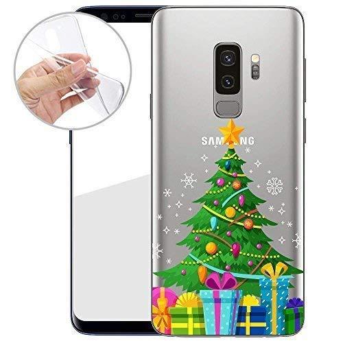 Finoo TPU Handyhülle für Dein Samsung Galaxy S9 Plus Made In Germany Hülle mit Motiv für Optimalen Schutz Silikon Tasche Case Cover Schutzhülle für Dein Samsung Galaxy S9 Plus-Weihnachtsbaum
