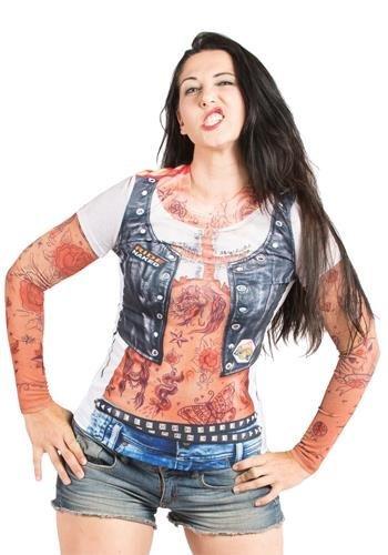 clubtrend Faux Real - Ladies Tattoo Longsleeve-S