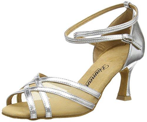 Diamant Latein 035-087-013 Damen Tanzschuhe - Standard & Latein, Silber (Silber), 42 EU (8 UK)