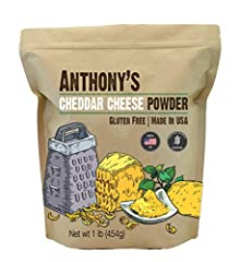 High Quality Powdered Cheddar Cheese Perfect for blending with butter, sour cream and heavy cream to make cheese sauces Lots of uses! Sprinkle on your favorite popcorn, vegetables, and casseroles. No artificial coloring, Batch Tested and Verified Glu...