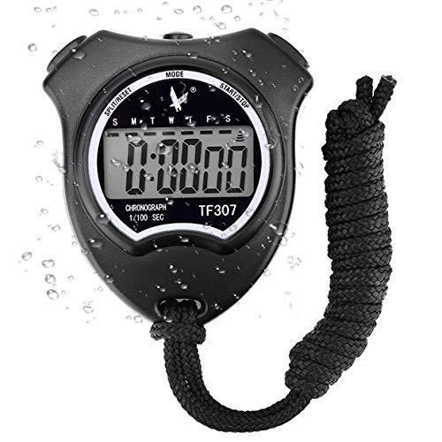 Cronómetro Deportivo Digital Cronómetro, Cronógrafo de Mano Reloj Digital Cronómetro con Alarma para natación fútbol, Cronómetros Deportivos a Prueba de Golpes para Entrenadores Equipo de árbitro