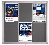 Franken ECO Pantalla Gabinete de 8 x Documentos A4 / Puertas dobles 98 x 70,4 x 4,5 cm Gris