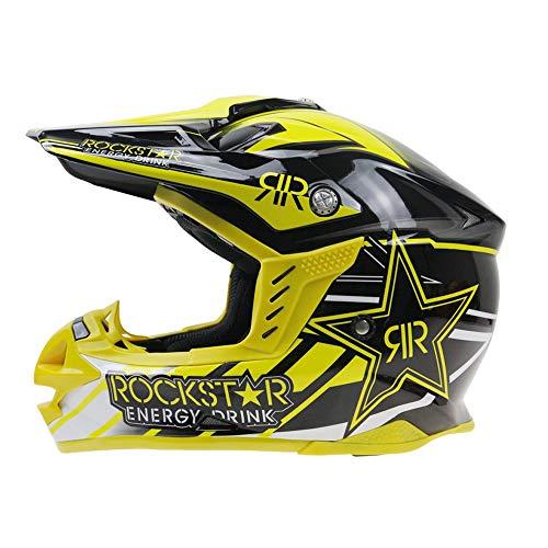 LTongx Casque de Moto de Motocross pour Casque d'ATV d'un Casque d'ATV de Scooter de Motocyclette de VTT d'adulte (M, L, XL, XXL),C,M(55~56cm)