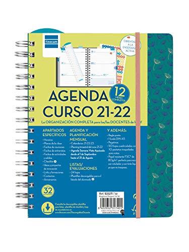 Finocam 533270722- Agenda Docente Magistral 2021 2022 4º - 155x212 Semana Vista Apaisada Elegant Español