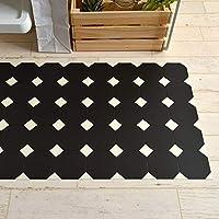 キッチンマット 242cm×60cm 拭ける フロアマット クッションフロアマット モノトーンタイル