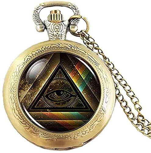 1 Stück/Los Steampunk Freimaurer Freimaurer Freimaurer Illuminati Taschenuhr Satanismus Frauen Männer Vintage Geschenkkette