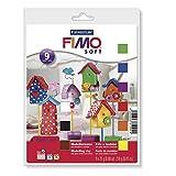 Fimo- Pasta de modelar, Multicolor (Eberhard Faber 8023 10) - Set de 9