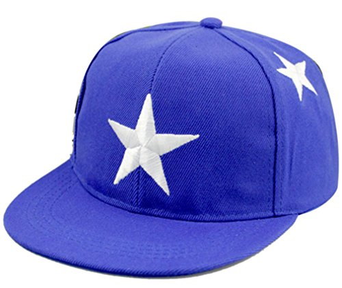 Belsen Kind Hip-Hop Stern Dreidimensional Stickerei Cap Baseball Kappe Hut (Marineblau)
