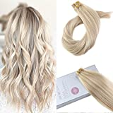 Moresoo 20Pollice Remy Extensions per Capelli Tape in Capello Umano Colore #18 Ash Blonde ...