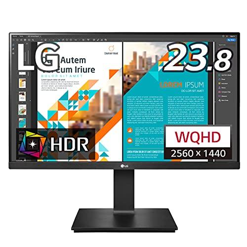 LG フレームレス モニター ディスプレイ 24QP550-B 23.8インチ/WQHD(2560×1440)/IPS非光沢/HDR/FreeSync/75...