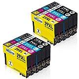 WELPOP 29XL Cartucce d'inchiostro Sostituzione per Epson 29 29XL Compatibile con Epson Expression Home XP-235 XP-245 XP-247 XP-255 XP-257 XP-332 XP-335 XP-342 XP-345 XP-352 XP-355 XP-432 XP-435