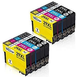 WELPOP Sostituzione per 29 29XL Cartucce d'inchiostro Compatibile con XP-342 XP-245 XP-442 XP-345 XP-247 XP-445 XP-235 XP-432 XP-332 XP-335 XP-255