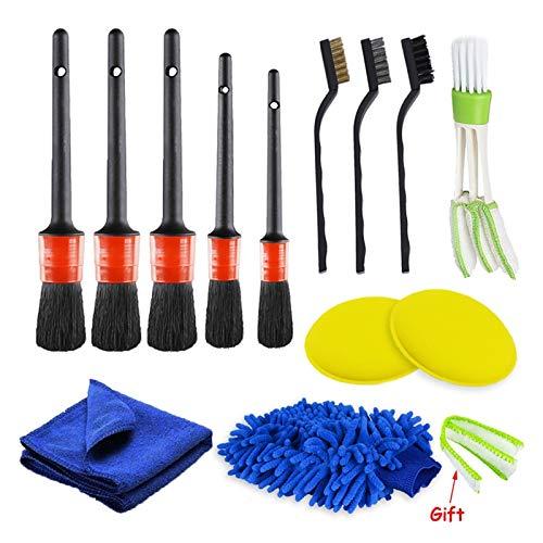 Keep it simple Power Scrubber - Juego de cepillos para taladrar y detallar el cepillo para limpiar el aire, para limpiar el borde del coche, para limpiar el cuero de la alfombra, color blanco