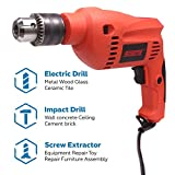 Cheston 13mm Impact Drill Machine Reversible Hammer Driver Variable Speed Screwdriver (Drill ONLY) (13mm drill)
