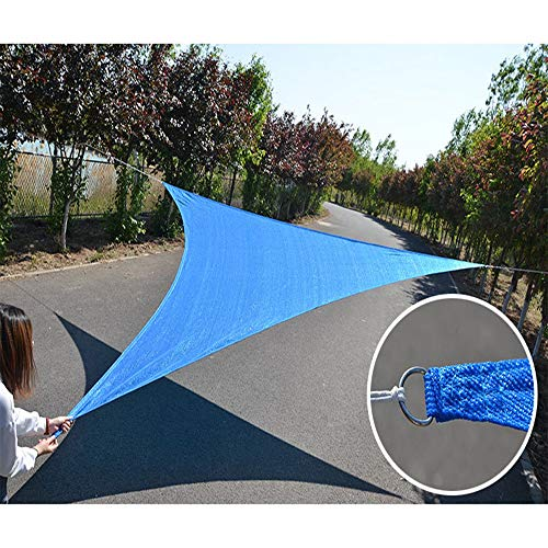 YUDEYU Shade Sail Multipurpose Cooling Insulation Spinnaker Shade Net Sun Protection HDPE Mesh (Color : Blue, Size : 3.5x3.5x3.5m)