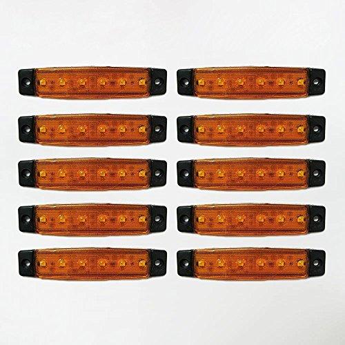 Universel 10 x 12 V LED Orange Jaune clair SMD Indicateur Side Marker lumière