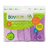 Bayeco, Pack De Bayetas 6 Multiusos 220 Ml, Mix, 30x30cm,