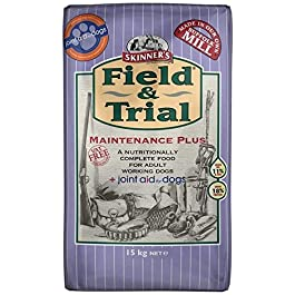 Skinner's Field & Trial Maintenance Plus – Complete Dry Adult Dog Food, For Less Active Dogs, Contains Joint Aid, 15kg